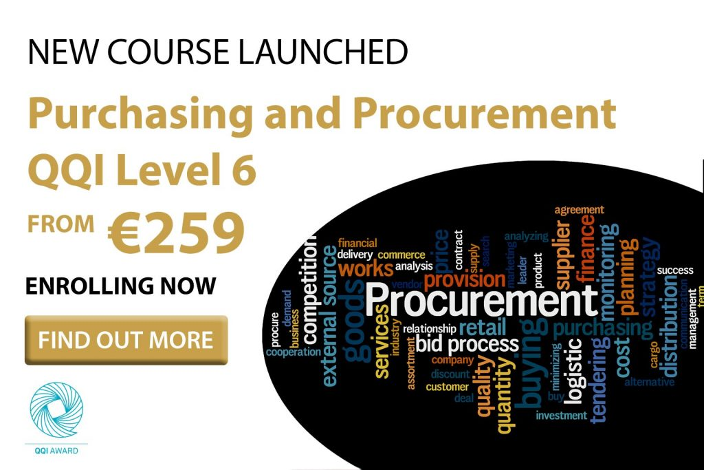 QQI Level 6 Purchasing and Procurement by distance learning.