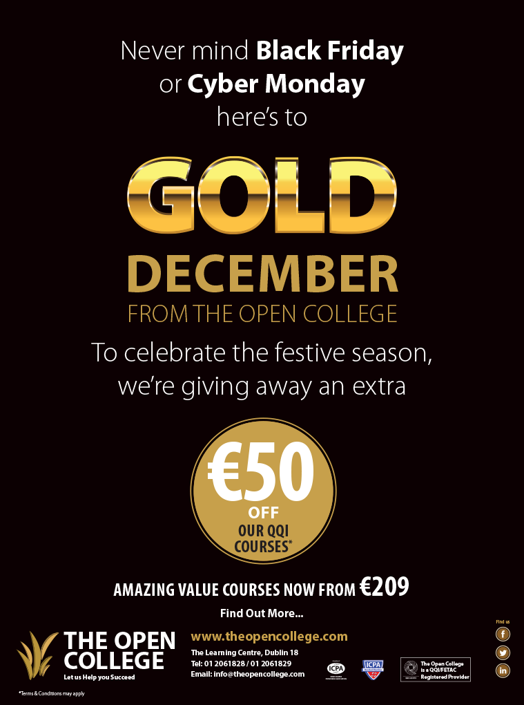 The Open College christmas celebration offer